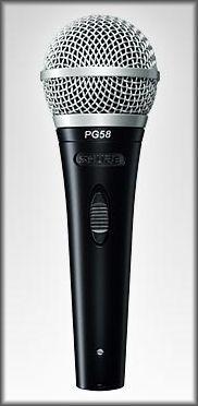 Mikrofon Shure PG 58 QTR (jack)