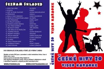 Svět karaoke - České hity 20. - DVD