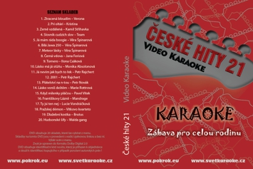Svět karaoke - České hity 21. - DVD