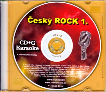 Svět karaoke - Český Rock 1. - CDG s ML